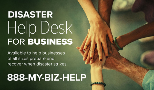 Call 1-888-MY-BIZ-HELP for Hurricane Ida Recovery Help
