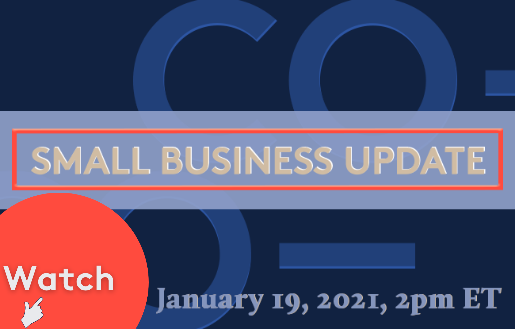 Watch the latest Small Business Update here.